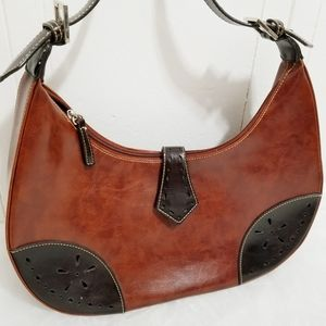 La Philipe| 💟 Leather Hobo with Punched Trim